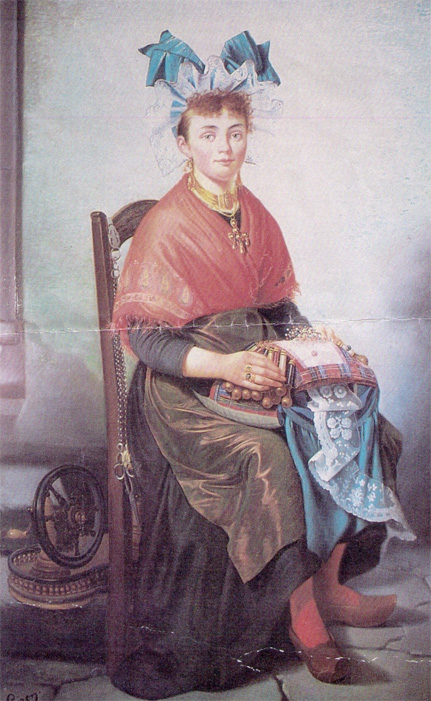 A lace maker by unknown artist, late 19th century, Musee Crozatier Le Puy, France. Via conference website