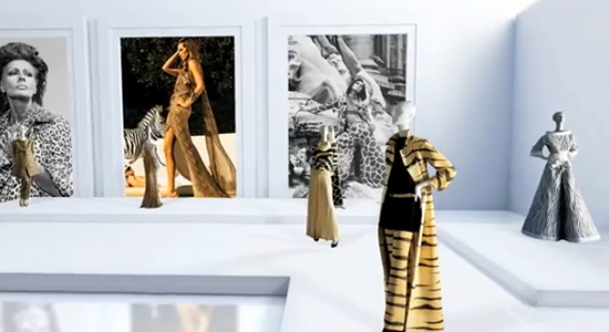 A screen shot of Valentino's online museum