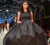 Winning Emerging Designers entry by Mahshid Mahdian on the Railway Station catwalk.  Image iD Dunedin Fashion Inc.