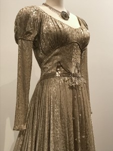 Edith Head Wedding dress worn by Barbara Stanwyck in Sorry Wrong Number bodice detail