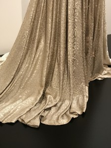 Edith Head Wedding dress worn by Barbara Stanwyck in Sorry Wrong Number skirt detail