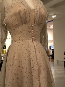 Edtih Head nightgown with robe worn by June Allyson in Strategic Air Command 1955 detail